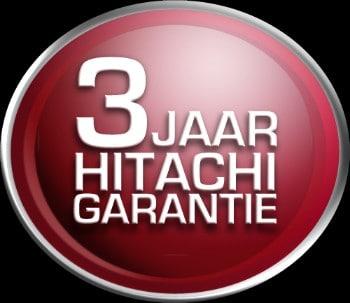 Hitachi garantie van 3 jaar